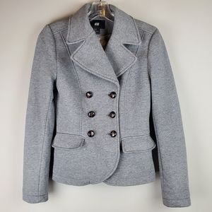 H&M Grey Knit Lightweight Jacket